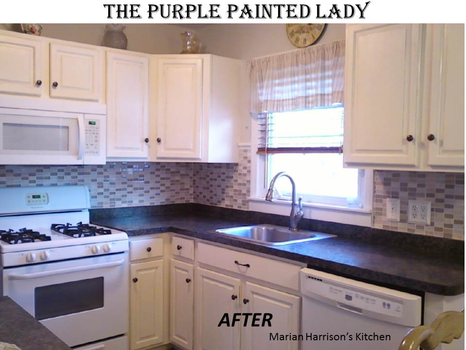 Are your kitchen cabinets dated before after photos the purple painted lady - Annie sloan kitchen cabinets before and after ...